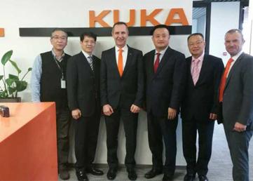 公司高层和德国KUKA机器人高层达成战略合作意向